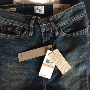 CK high rise super skinny jeans